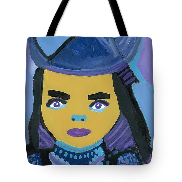Tote Bag featuring the painting Lady Samurai by Don Koester