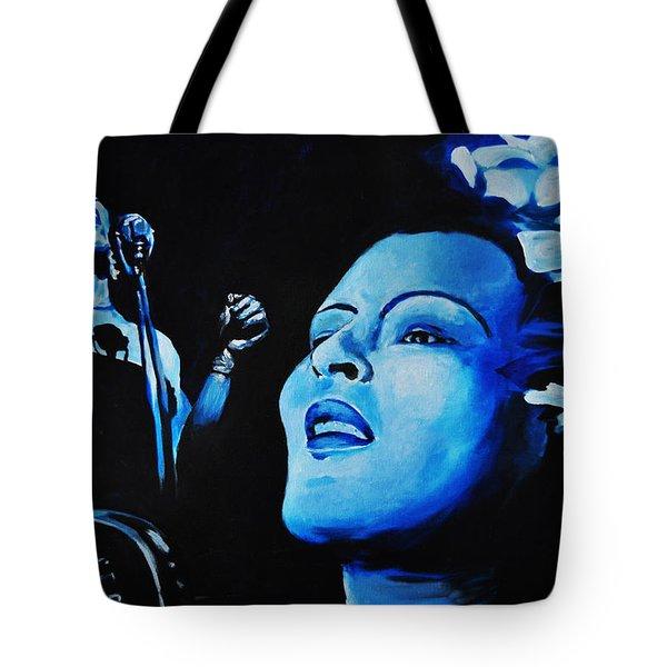 Lady Sings The Blues Tote Bag by Ka-Son Reeves