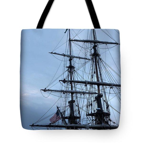 Lady Washington's Masts Tote Bag by Heidi Smith