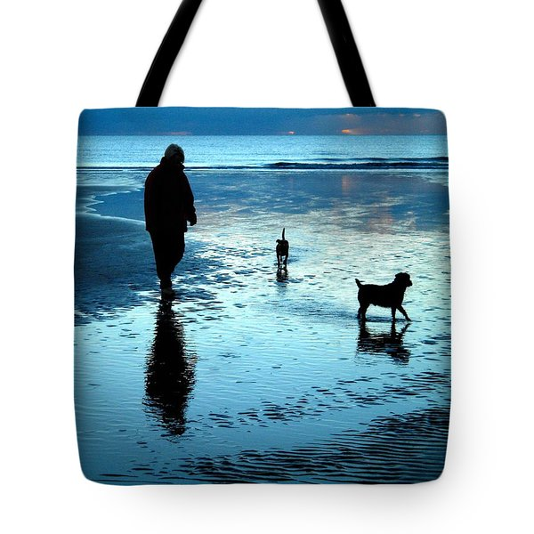 Lady With The Little Dogs Tote Bag by Russ Murry