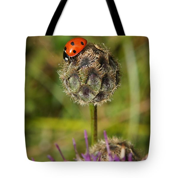 Tote Bag featuring the digital art Ladybird by Ron Harpham