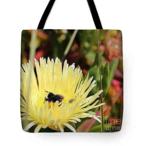 Ladybug And A Bumblebee Tote Bag