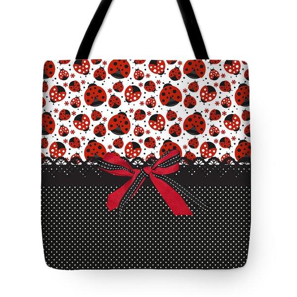 Ladybug Energy  Tote Bag by Debra  Miller