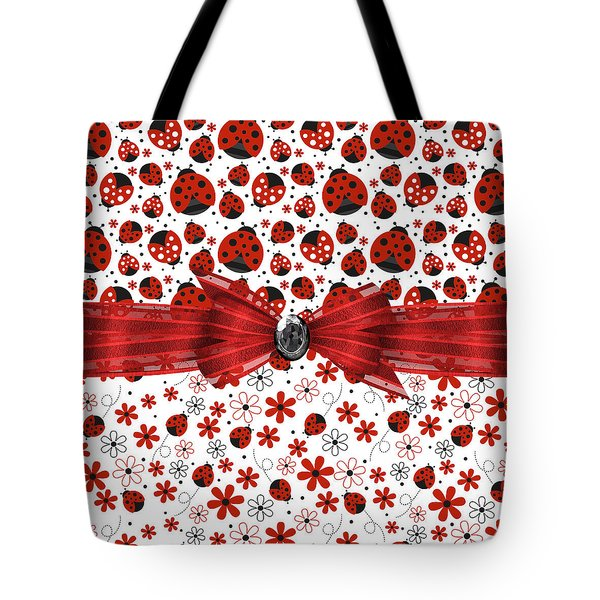 Ladybug Magic Tote Bag by Debra  Miller
