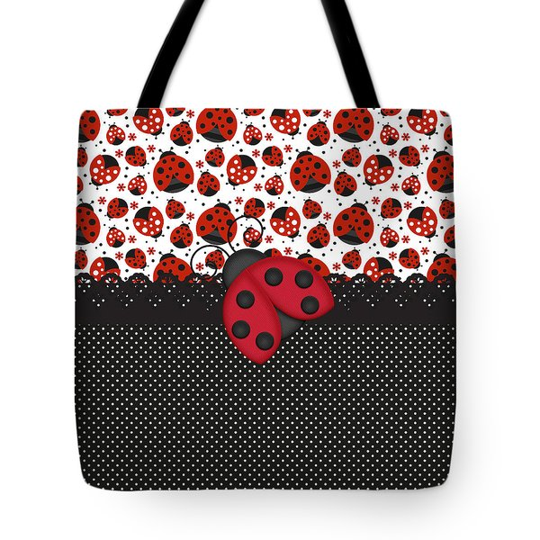 Ladybug Mood  Tote Bag by Debra  Miller