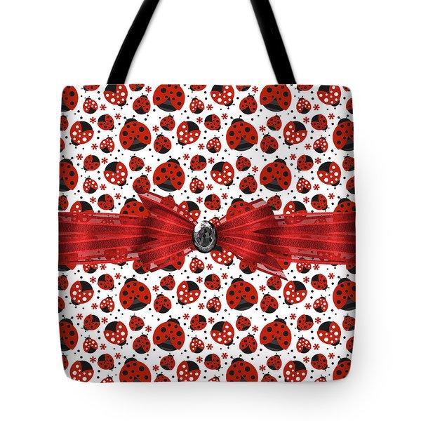 Ladybug Obsession  Tote Bag by Debra  Miller