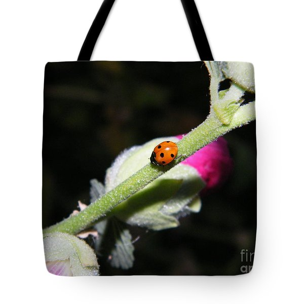 Ladybug Taking An Evening Stroll Tote Bag
