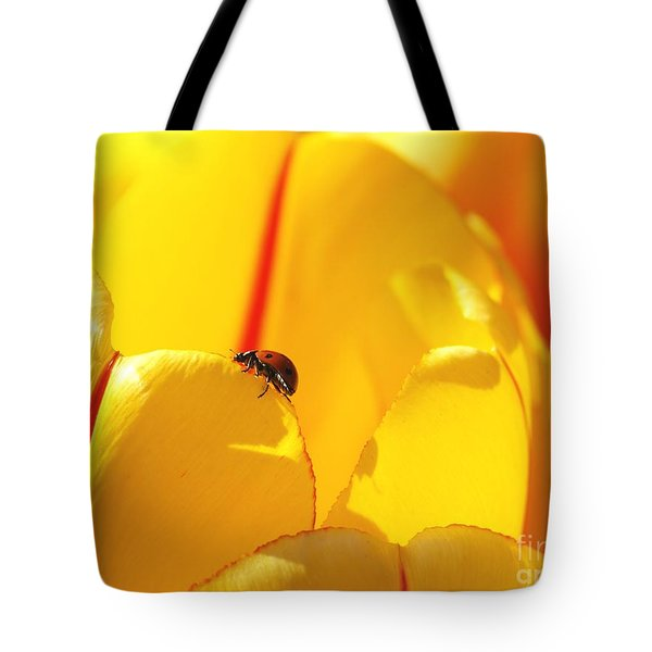 Ladybug - The Journey Tote Bag by Susan  Dimitrakopoulos