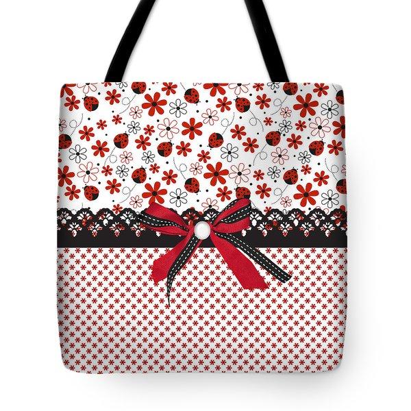 Ladybug Whisper  Tote Bag by Debra  Miller