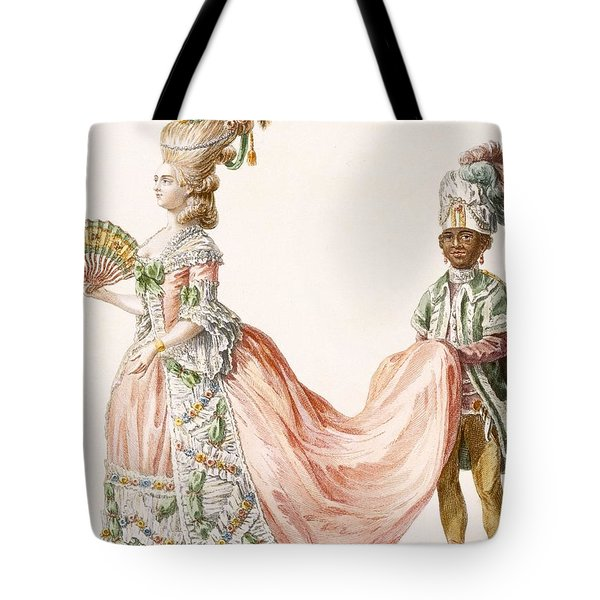 Ladys Elaborate Evening Gown, Engraved Tote Bag