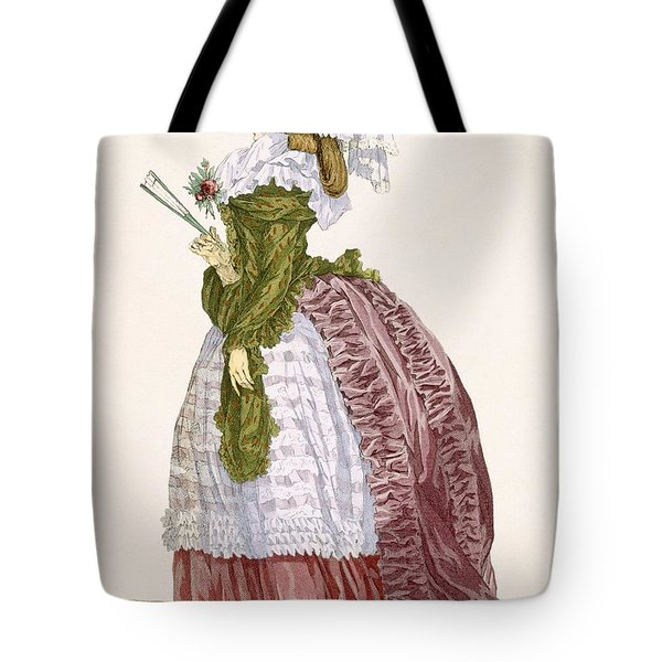 Ladys Elaborate Gown In Burgundy Tote Bag