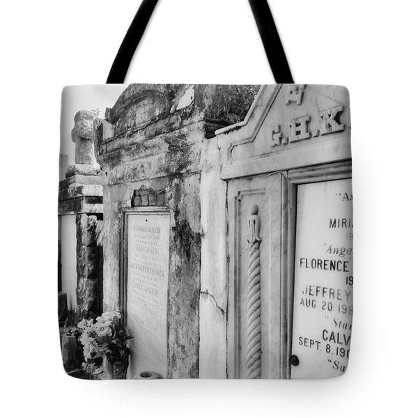 Lafayette Cemetery Black And White Tote Bag