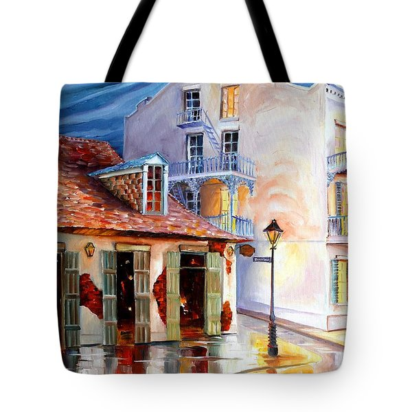Lafitte's Guest House On Bourbon Tote Bag by Diane Millsap