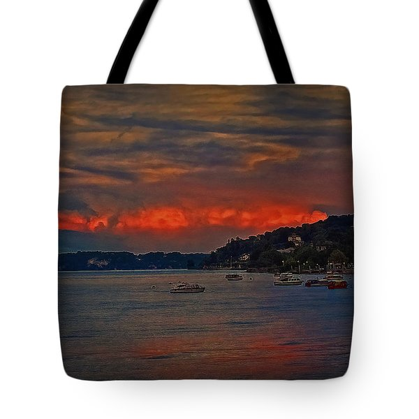 Tote Bag featuring the photograph Lago Maggiore by Hanny Heim