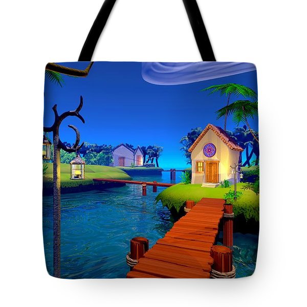 Lagoon Tote Bag by Cynthia Decker