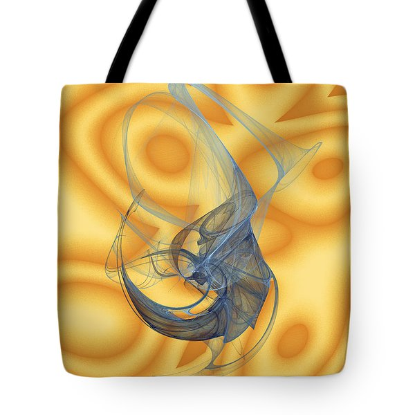Tote Bag featuring the digital art Lagoon by Jeff Iverson