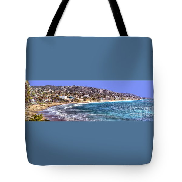 Laguna Beach Coast Panoramic Tote Bag