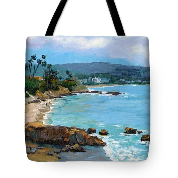 Laguna Beach Winter Tote Bag by Alice Leggett