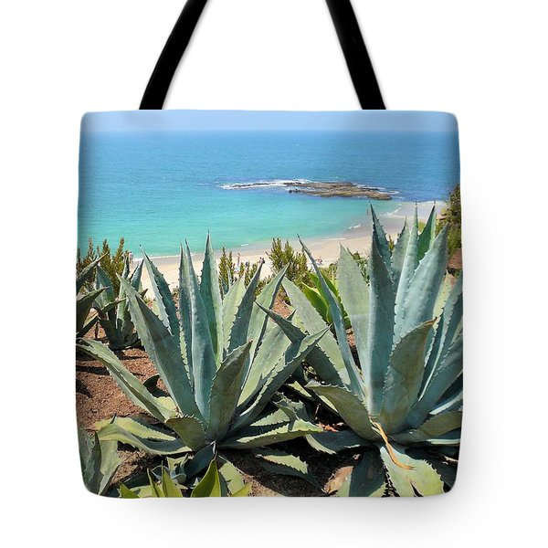 Laguna Coast With Cactus Tote Bag