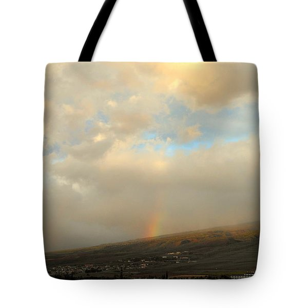 Tote Bag featuring the photograph Lahaina Rainbow by Fred Wilson