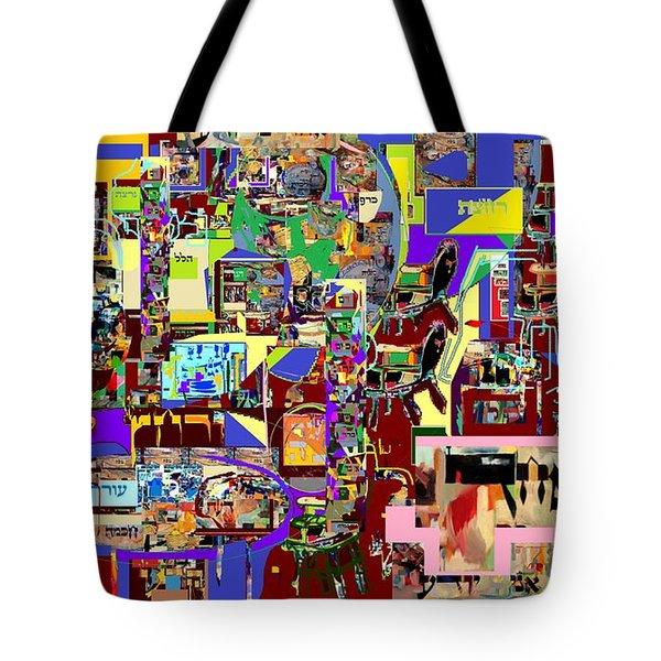 Lail Haseder 4 Bais Tote Bag by David Baruch Wolk