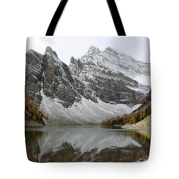 Tote Bag featuring the photograph Lake Agnes by Ramona Johnston