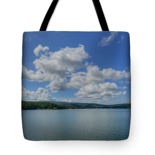 Lake Arrowhead Tote Bag by Julia Wilcox