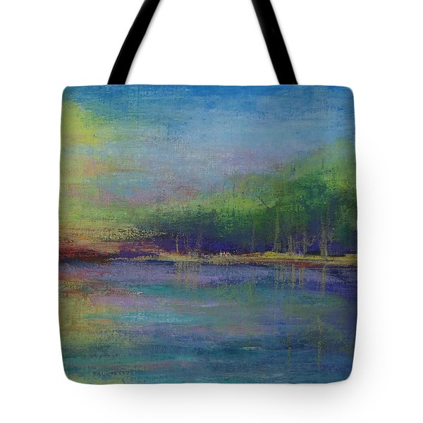 Lake At Sundown Tote Bag