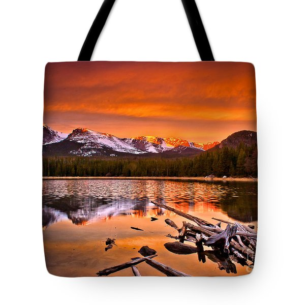 Lake Bierstadt In The Morn Tote Bag by Steven Reed