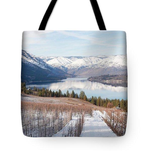 Lake Chelan In Winter Tote Bag