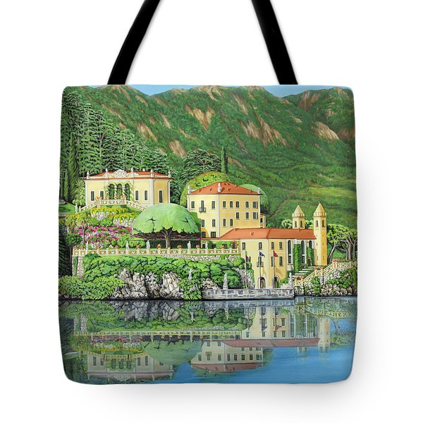 Tote Bag featuring the painting Lake Como Morning by Jane Girardot
