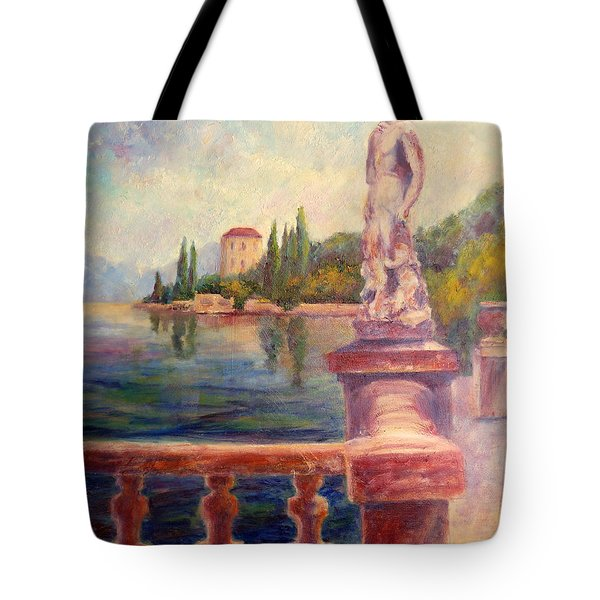 Lake Como View Tote Bag