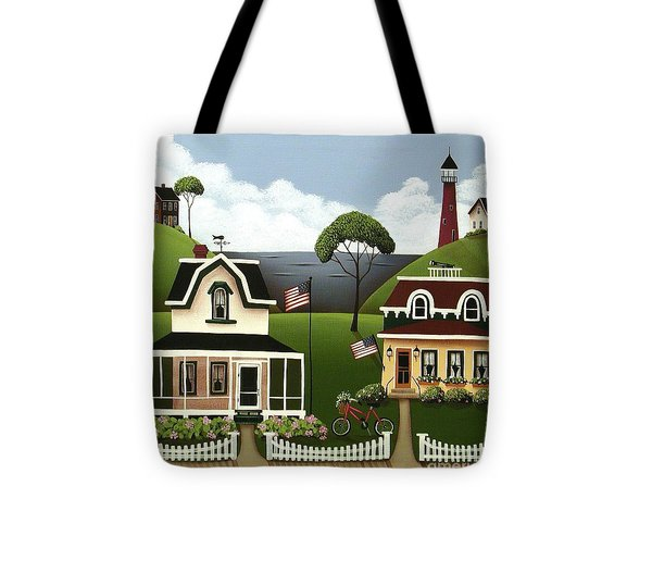 Lake Cottages Tote Bag by Catherine Holman
