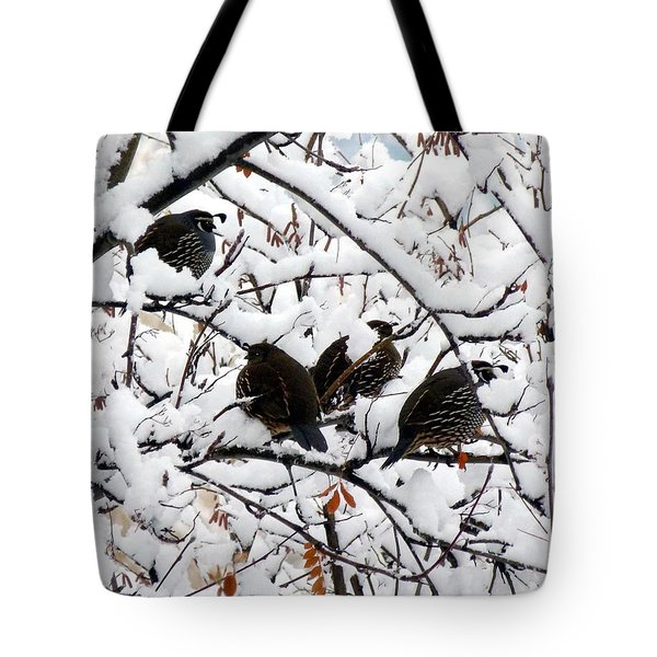 Lake Country Quail Tote Bag