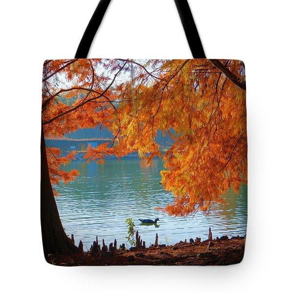 Lake Ella Morning Tote Bag