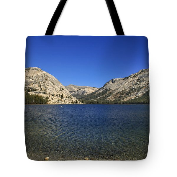 Lake Ellery Yosemite Tote Bag by David Millenheft