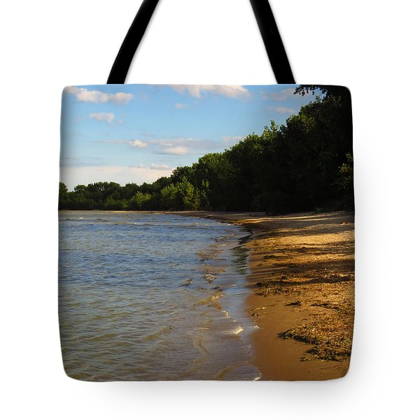 Lake Erie Shore 3 Tote Bag by Shawna Rowe