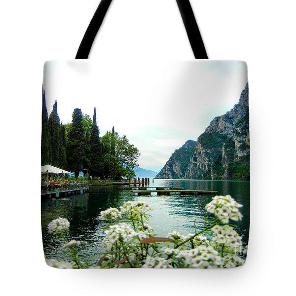 Lake Garda Tote Bag by Mariola Bitner