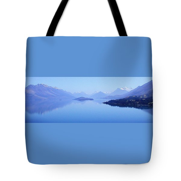 Tote Bag featuring the photograph Lake Glenorchy New Zealand by Ann Lauwers