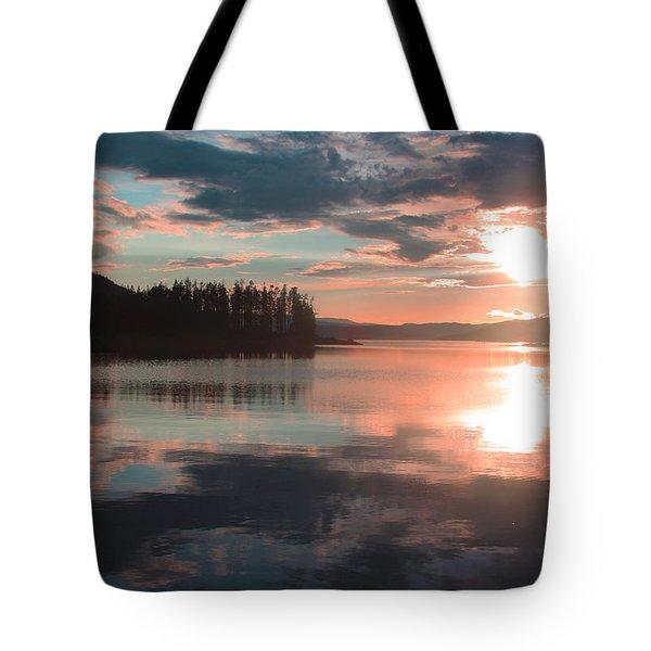 Lake Granby Sunset Tote Bag by Chris Thomas