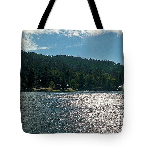 Scenic Lake Photography In Crestline California At Lake Gregory Tote Bag