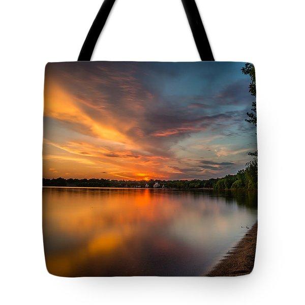 Lake Harriet Grand Finale Tote Bag by Mark Goodman