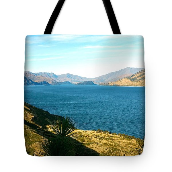 Tote Bag featuring the photograph Lake Hawea by Stuart Litoff