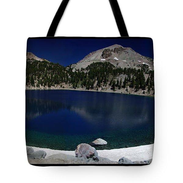 Lake Helen At Mt Lassen Triptych Tote Bag by Peter Piatt