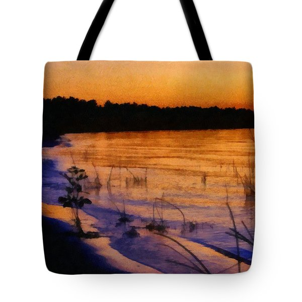 Lake Huron Sunset  Tote Bag