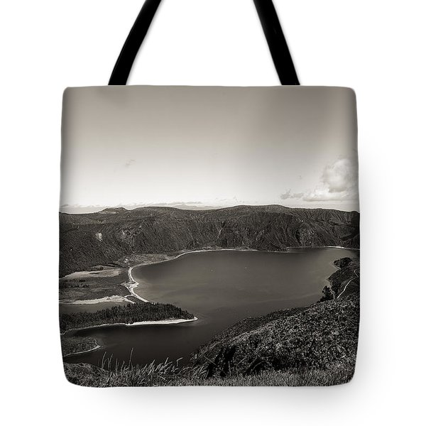 Lake In A Crater Tote Bag