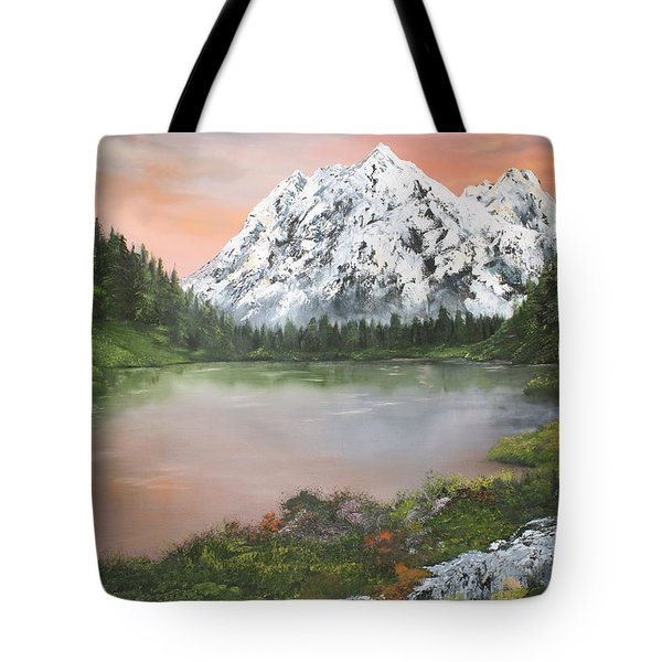 Tote Bag featuring the painting Lake In Austria by Jean Walker
