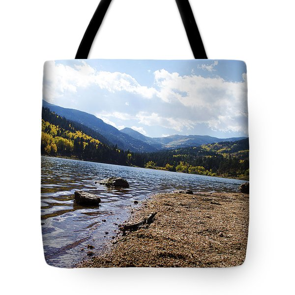 Lake In Colorado Rockies Tote Bag
