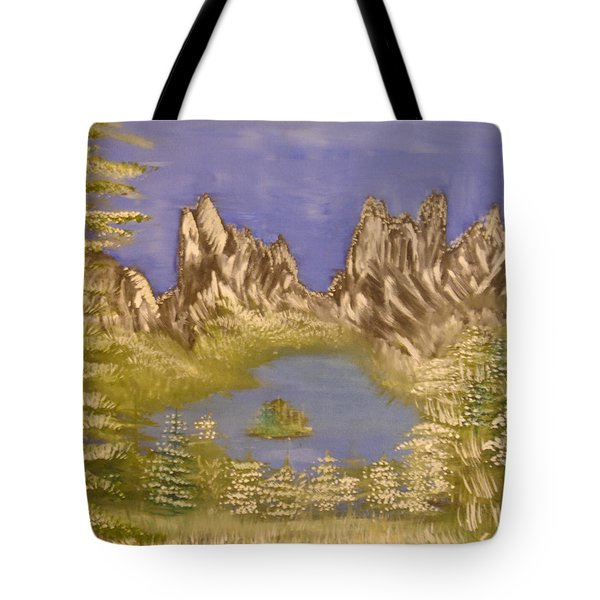 Lake In Glacier Tote Bag