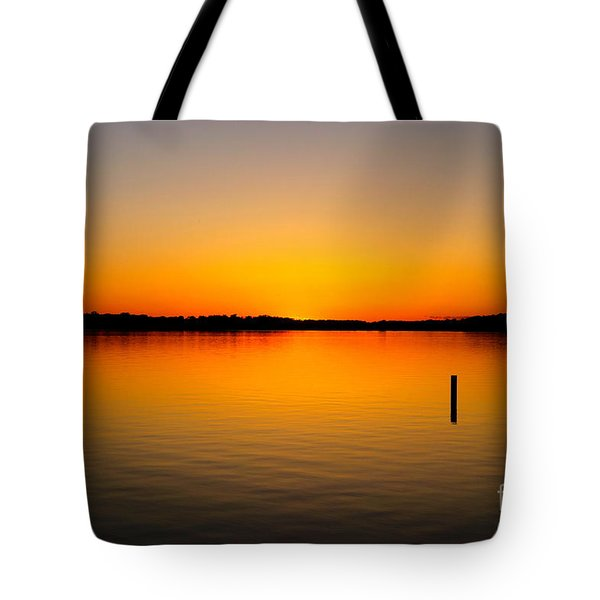 Tote Bag featuring the photograph Lake Independence Sunset by Jacqueline Athmann